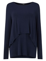 Phase Eight Dita Double Layer Top Navy