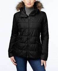 Columbia Sparks Lake Faux Fur Trim Thermal Coil Puffer Jacket Black