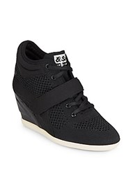 Ash Bebop Knit Wedge Sneakers Black