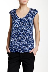 J.Crew Factory Printed Cap Sleeve Blouse Multi