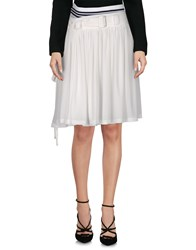 Y 3 Knee Length Skirts White