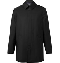 A.P.C. Wool Gabardine Mac Black