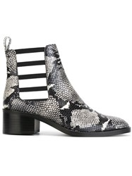 Each X Other Snake Skin Print Cut Out Boots Black