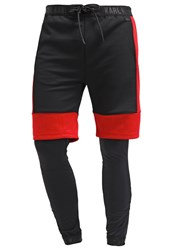 Karl Kani Matar Tracksuit Bottoms Black Red