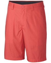 Columbia Men's Cotton Chino Shorts Sunset Red