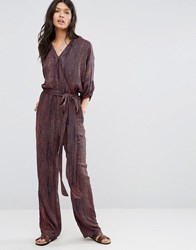 Pepe Jeans Donny Print Jumpsuit 185Mojo Red