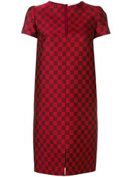Gianluca Capannolo Checked Dress Red
