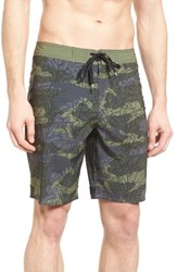 Rvca Men's Big And Tall Bruce Warp Board Shorts Burnt Olive