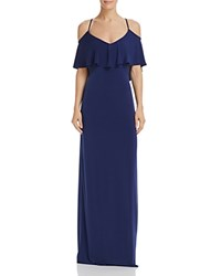Laundry By Shelli Segal Cold Shoulder Gown Midnight