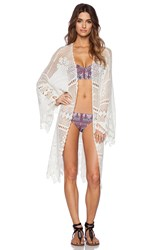 Somedays Lovin Big Wave Crochet Kimono White