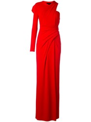 Alexander Wang Draped One Shoulder Gown Red
