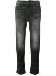 Hudson Faded Cropped Jeans Black