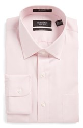 Nordstrom Big And Tall Men's Shop Classic Fit Non Iron Solid Dress Shirt Pink Nostalgia