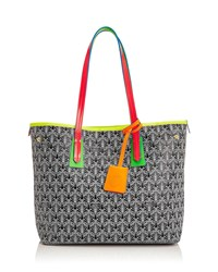 Liberty London Neon Little Marlborough Tote Bag Black