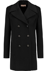 Emilio Pucci Cappotto Leather Trimmed Wool And Angora Blend Coat