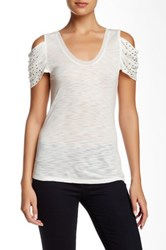Autograph Addison Cutout Shoulder Knit Tee White