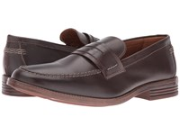 Hush Puppies Gallant Parkview Dark Brown Leather Men's Slip On Dress Shoes