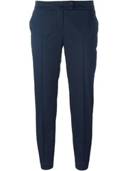 Akris Cropped Tailored Pants Blue