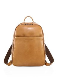 Brunello Cucinelli Camel Leather Backpack