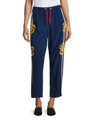 Red Valentino Surf Board Cropped Silk Pants Blucina