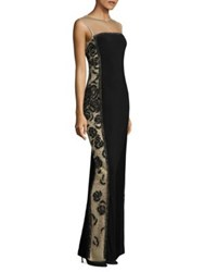 Basix Black Label Beaded Gown Black