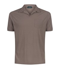 Slowear Open Collar Polo Shirt Male Taupe