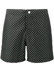 Riz Boardshorts Buckler Short Polka Dot Swim Shorts Men Recycled Polyester 36 Black