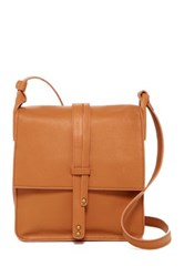 Cynthia Vincent Deliz Leather Crossbody Beige