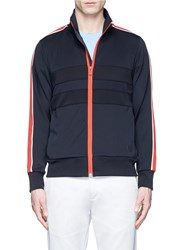 Paul Smith Contrast Stripe Jersey Track Jacket Black