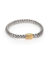 John Hardy Classic Chain Medium 18K Yellow Gold And Sterling Silver Bracelet Silver Gold
