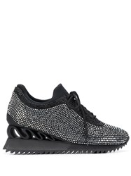 Le Silla Reiko Wave Crystal Embellished Sneakers 60