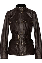 Belstaff Roadmaster Icon Belted Cotton Shell Jacket Brown