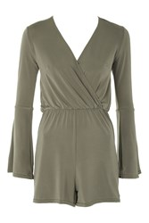 Oh My Love Cross Over Playsuit By Khaki