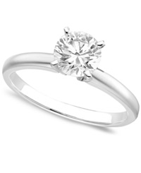 Macy's Engagement Ring Certified Colorless Diamond 1 Ct. T.W. And 18K White Gold