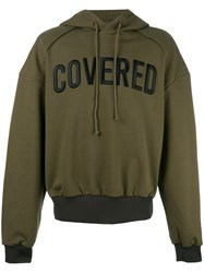 Juun.J Covered Hoodie Green