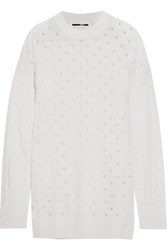 Mcq By Alexander Mcqueen Cutout Wool Sweater Ivory