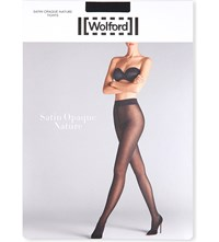 Wolford Satin Opaque Nature Tights Black