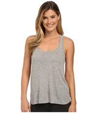 P.J. Salvage Blk N Blush Reversible Tank Top Heather Grey Women's Sleeveless Gray