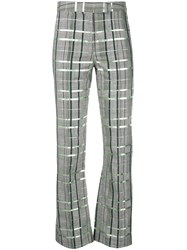 Rosie Assoulin Check Print Trousers Grey