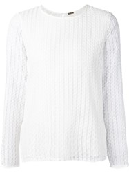Adam By Adam Lippes Adam Lippes Crochet Lace Bell Sleeve Blouse White