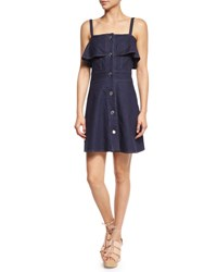 See By Chloe Sleeveless Stretch Denim Mini Dress Indigo