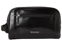Kenneth Cole Reaction Pvc With Perforated Trim Single Gusset Top Zip Travel Kit Black Bags