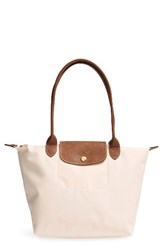Longchamp 'Small Le Pliage' Shoulder Bag Beige Ivory