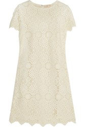 Tory Burch Trixy Crocheted Cotton Lace Dress Cream