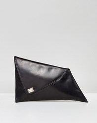 Urbancode Abstract Fold Over Clutch Bag Black