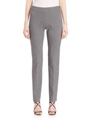 Piazza Sempione Plaid Slim Fit Trousers Grey