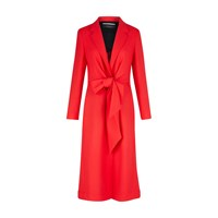 Roland Mouret Hollywell Woollen Coat Bright Red