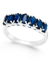 Macy's Sapphire Seven Stone Ring 2 3 4 Ct. T.W. In Sterling Silver Blue