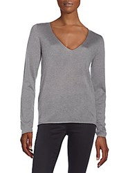 Zadig And Voltaire Solid Long Sleeves Top Melange Grey