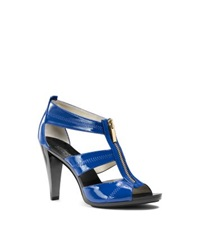 Michael Kors Berkley Patent Leather Sandal Electric Blue